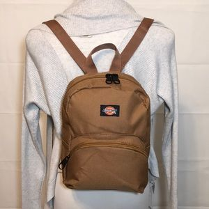 Dickies Khaki Lightweight Small Backpack Bag